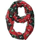 MissShorthair Christmas Infinity Scarf Lightweight Loop Holiday Gift Idea