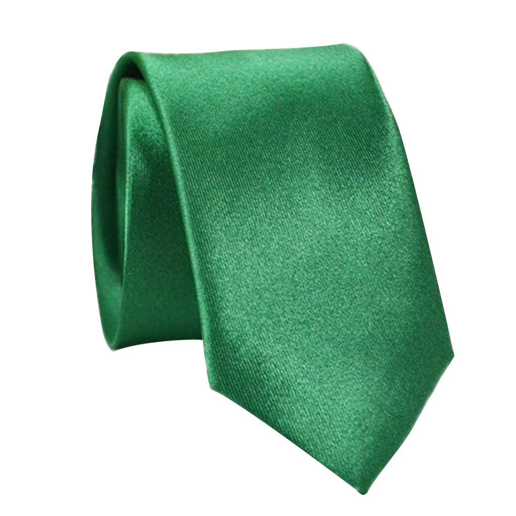 Haptian Hombres Clásico Color sólido 5 cm Delgado Novio Corbatas ...