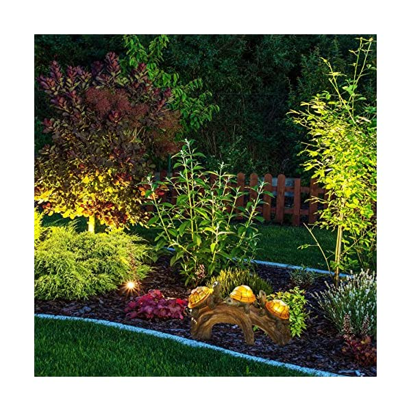 Solar-Powered-Turtles-on-Log-Decoration-Ultra-Durable-Polyresin-Intricate-Detailing-Wireless-Outdoor-Accent-Lighting-Best-Decor-Ornaments-for-Garden-Yard-Water-Feature