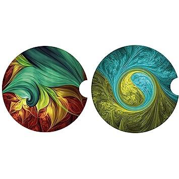 Amazon.com: Juego de 2 posavasos de cerámica absorbente para ...