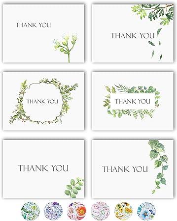 Amazon.com: Tarjetas de agradecimiento, 36 notas de ...