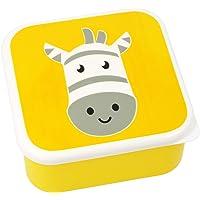 com-four® Lonchera para llevar: lonchera colorida para niños con un motivo animal genial (01 pieza - Cebra - amarillo)