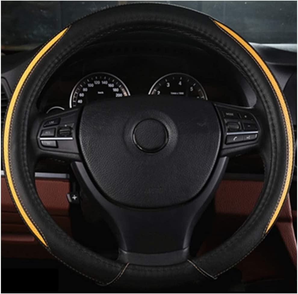 Kleine LKW//Busse // SVU Farbe : Orange, gr/ö/ße : 36cm ADHW Lenkradabdeckung Mikrofaser Leder 36-50 cm // 14.2-19.7inch Jahr Rundeinsatz f/ür gro/ße Mittel