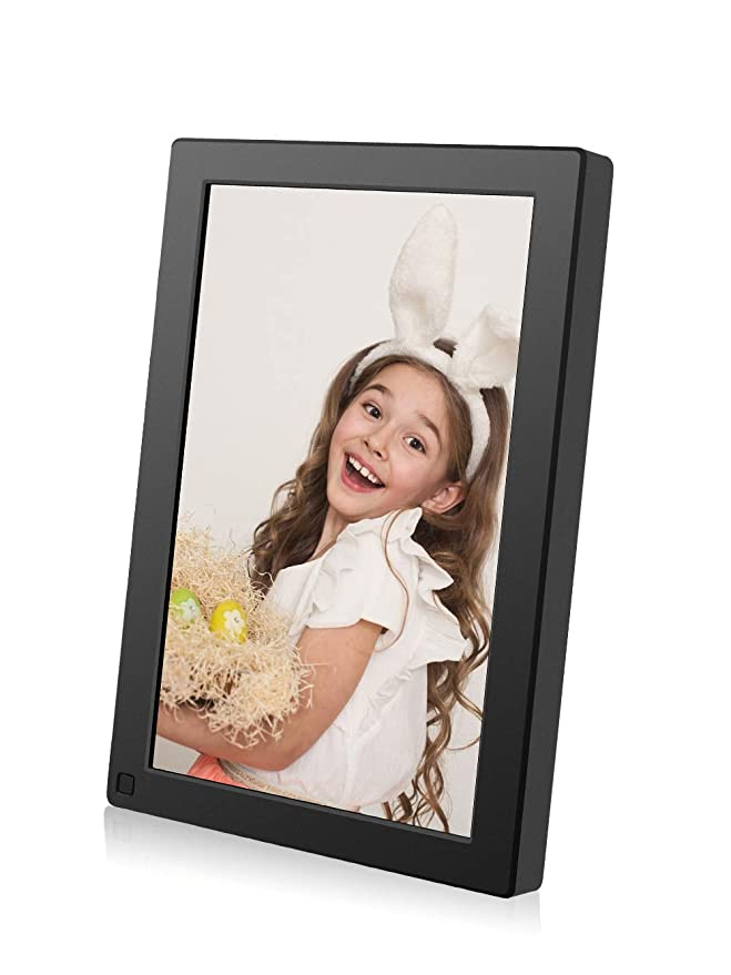 ... WiFi 16GB Digital Photo Frame 1280x800 IPS Touch Screen Auto Rotate Motion Sensor Add Photos/Videos from iPhone & Android App/Twitter/Facebook/Email W10