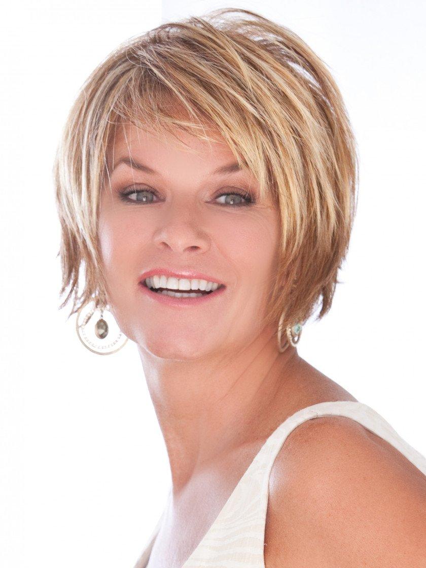 Trendsetter Color Red Blonde - Toni Brattin Straight Razor Shag Cut Chunky Layers Custom Fit Avg Cap