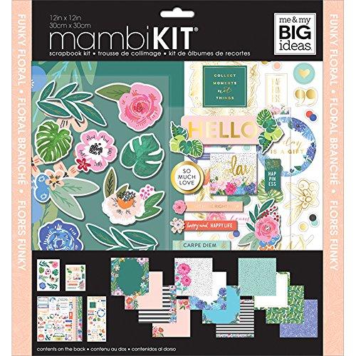 me & My Big Ideas SRK-161 Scrapbook Kit, Funky (Floral Scrapbooking Kit)
