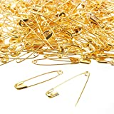 #7: 400-Count Safety Pins - Large Safety Pins for Garment Repair, Quilting, Jewelry Making, Gold - 1.7 x 0.4 Inches