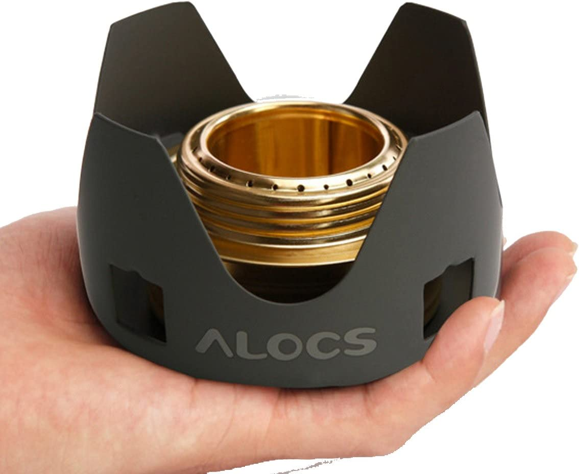 Alocs Professional New Mini Alcohol Stove Spirit burner sets for Camping hiking