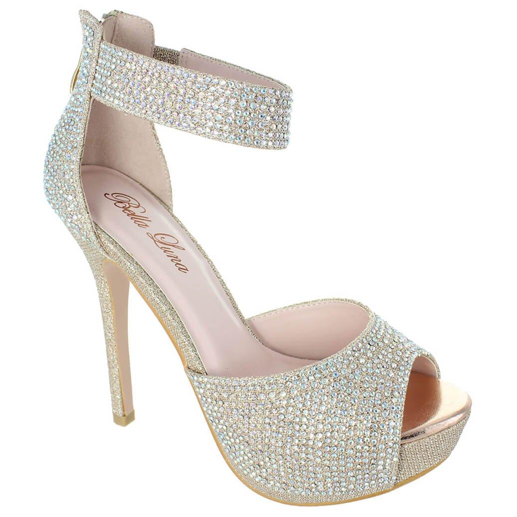 only U Women's High Heel Platform Dress Pump Shoes Canny-13 B077GD8N7V 10 B(M) US|Silver