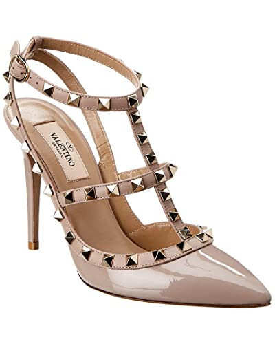 moderate cost search for clearance volume large Amazon.com | VALENTINO Rockstud Cage 100 Patent Ankle Strap ...
