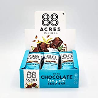 product image for 88 Acres, Dark Chocolate Sea Salt Seed Bars, 1.6 Ounce, 9 Pack