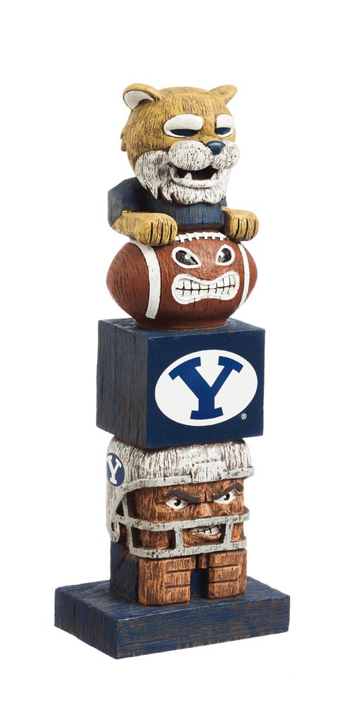 Evergreen NCAA BYU Cougars Tiki Totem, Team Colors, One Size