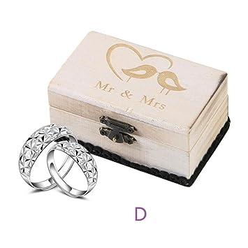 Tianranrt Einzigartige Und Spezielle Holz Handwerk Hochzeit Ring Box