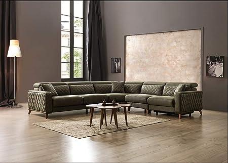 Lujo sofá Krefeld en plástico con Aspecto de Chesterfield y ...