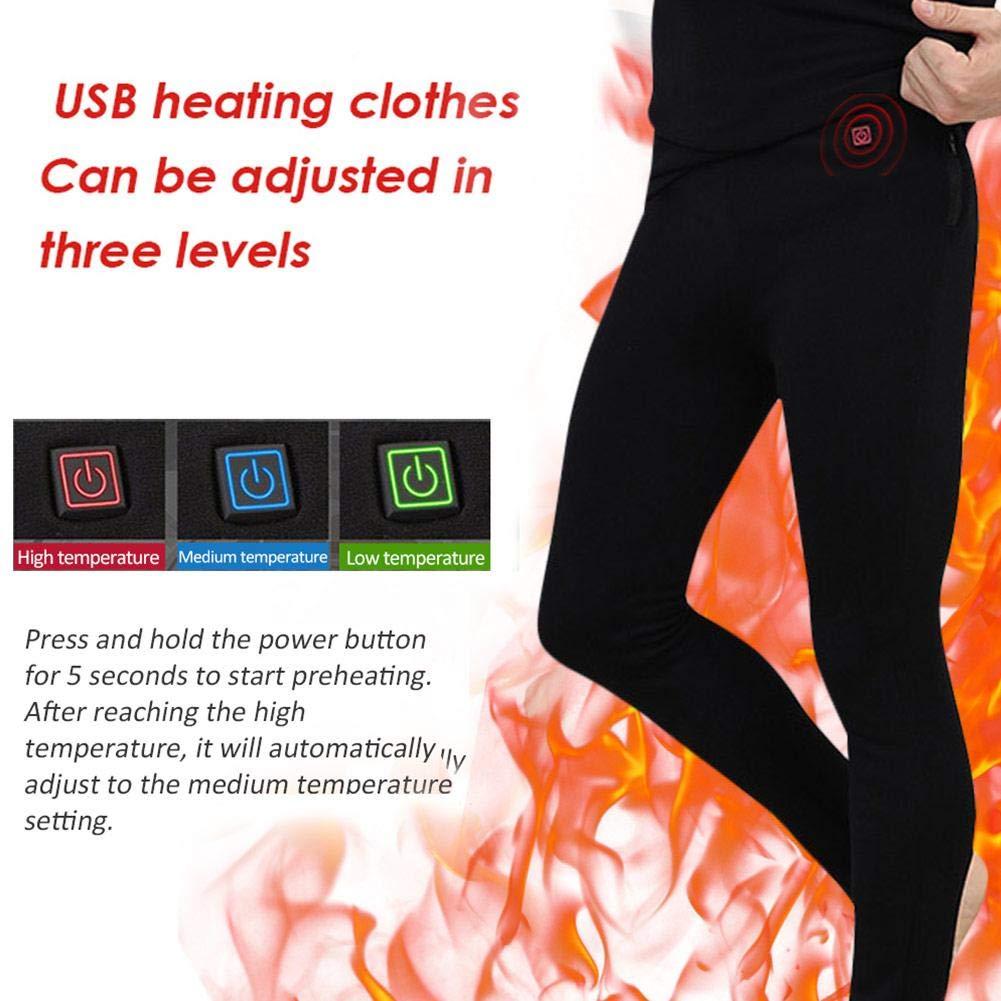 Pantalones de calefacci/ón para hombres Invierno,Pantalones t/érmicos el/éctricos de temperatura ajustable de fibra carbono hombres Pantalones calefacci/ón USB,m/ás terciopelo Calentando polainas calientes
