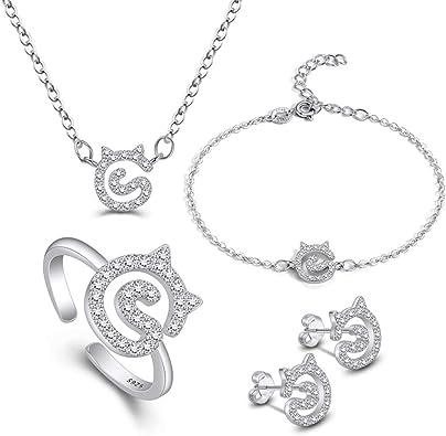 Cristal perla collar y pendiente conjunto oro Rosa Boda Nupcial Cumpleaños 705