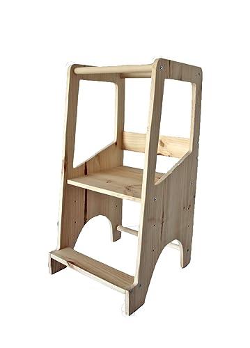 Torre de aprendizaje Montessori - Regulable en altura - Montessori ...