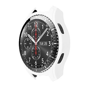 STRIR Carcasa para Smartwatch Gear,a Prueba de Golpes y Suciedad, para Smartwatch Samsung Gear S3 Frontier (Blanco)