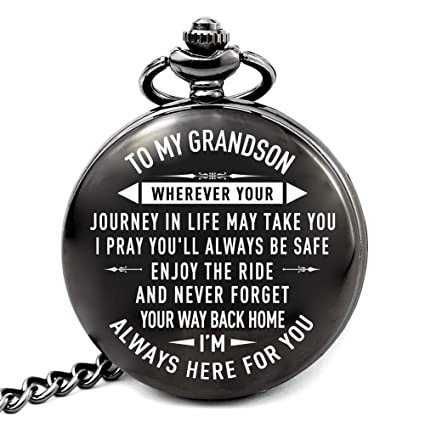 Amazon LEVONTA Grandson Gifts From Grandma And Grandpa Birthday Gift Ideas For Graduation Present Journey Home Kitchen