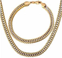 Cadenas De Oro para Hombre Chapada en Oro 14K para Hombres 14k Cadena Regalos para Hombre