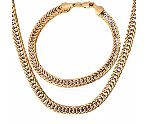 bajo precio 8b904 ffec5 Cadenas De Oro para Hombre Chapada en Oro 14K para Hombres ...