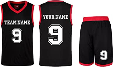 Custom Men's Basketball Jersey Suit Name Number Printed Basketball Jerseys and Shorts