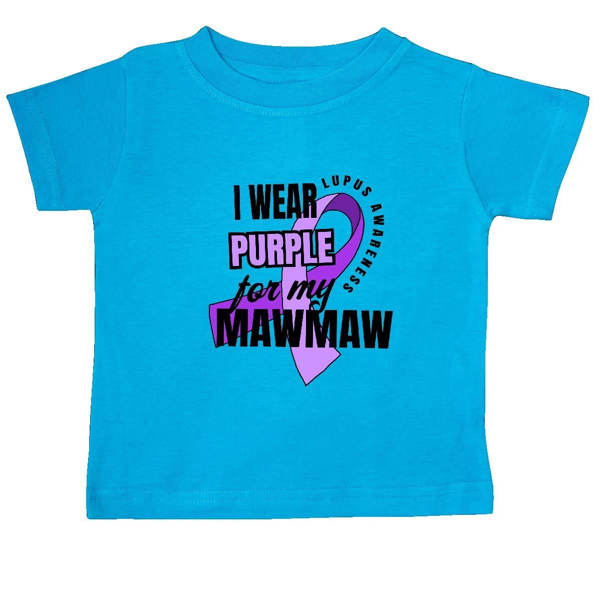 inktastic I Wear Purple for My Mawmaw Lupus Awareness Baby T-Shirt