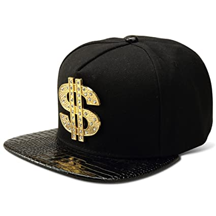 MCSAYS Fashion Hip Hop Style Crystal CZ Iced Out Dollars Pendant Snapback  Snapback Bling Bling Cotton d0fa689d692