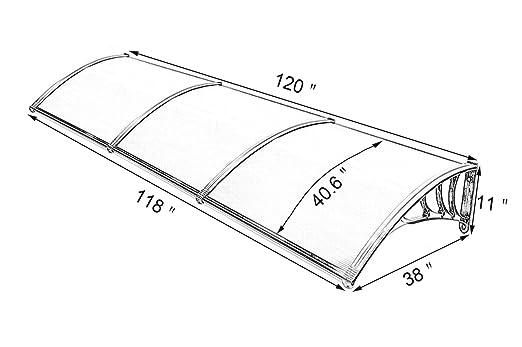 Amazon Com Mcombo 40120 Window Awning Outdoor Polycarbonate