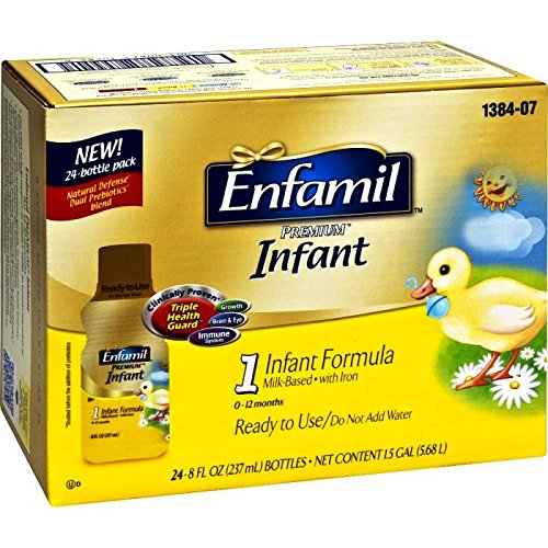 Enfamil Premium Infant Formula Milk-Based with Iron, Ready to Feed, 24 Count