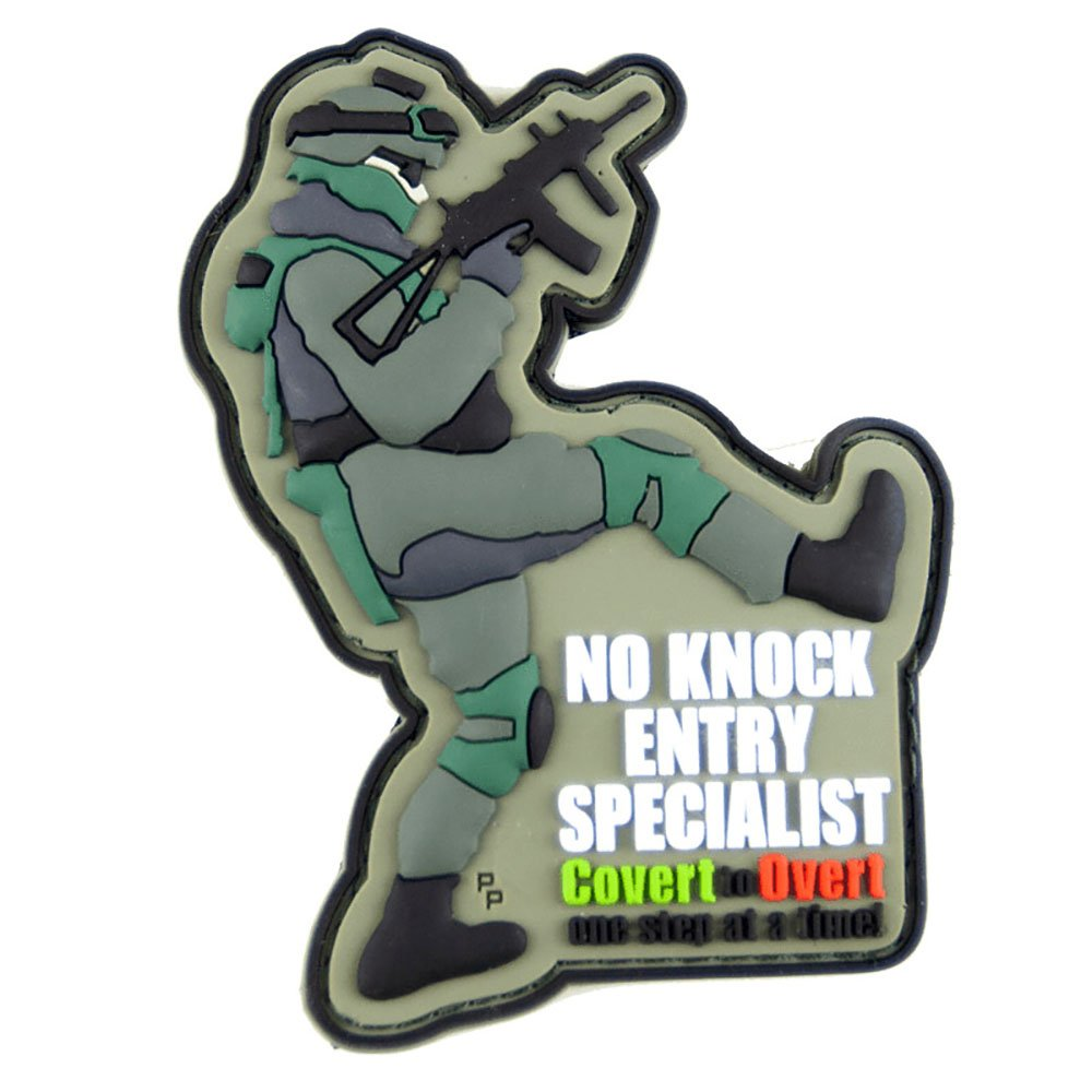 No Knock Entry Specialist PVC Tactical Patch Morale Badge