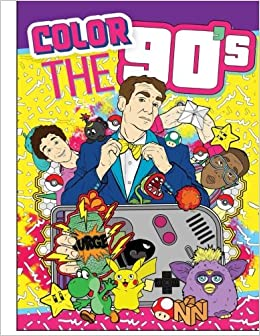 Amazon Adult Coloring Books Color The 90s Ultimate Book For Adults Best Sellers 9781945006371 Outrageous Katie