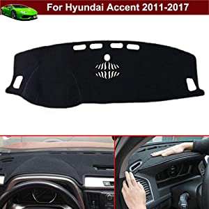 New 1pcs Black Non-Slip Dash Mat Dashboard Mat Dash Carpet Dash Covers Dashboard Cover Custom Fit for Hyundai Accent 2011 2012 2013 2014 2015 2016 2017