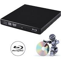 tengertang USB External blu-Ray Drive, Portable DVD Burner,BD-ROM,DVD/CD-RW/ROM Writer,Support xp/Win/ Linux System…