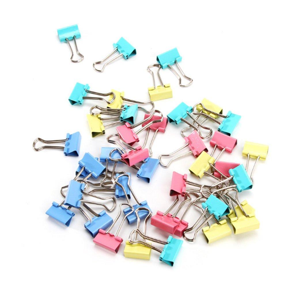 Hemore metal clip doppio Paper morsetti graffette da ufficio raccoglitori clip per chiudere i sacchetti di plastica ufficio organizzare Standard 24pcs-1