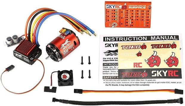 Opinión sobre FairOnly SKYRC 4000KV 8.5T 2P Sensor Brushless Motor CS60 60A Sensor ESC LED Programa Tarjeta Combo Set para 1/10 1/12 RC Buggy Auto