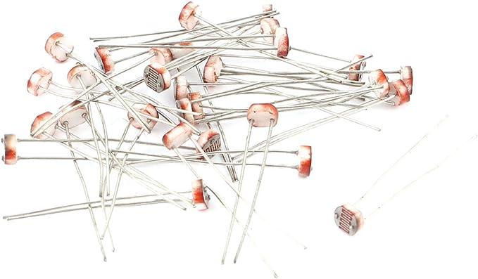 Sourcingmap Lichtabhängiger Fotowiderstand 5 Mm Silberfarben 30 Stück Baumarkt