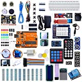 Iduino Uno Starter Kit for Arduino Project Board Kits w/ 33 Lessons Tutorial Over 200 pcs Electronic Kits Engineering Accessories
