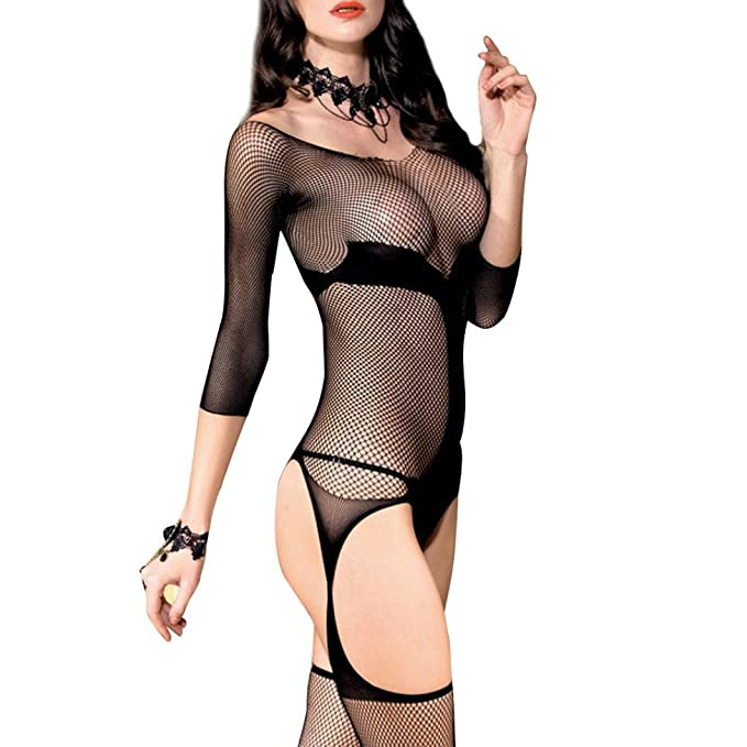 Lenceria erotica de mujer con abertura,Morwind lenceria mujer fishnet bodysuit camison picardias ropa interior
