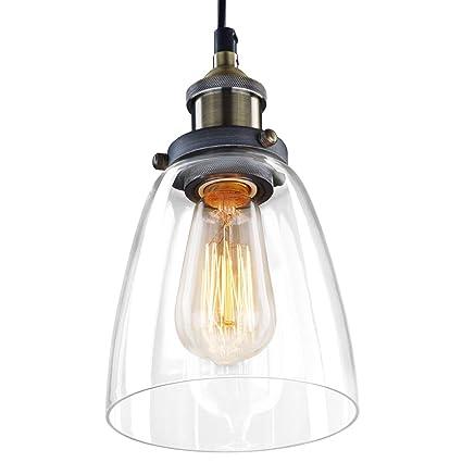emotree 1 x Cristal Pantalla - Lámpara de techo colgante Leuchten ...