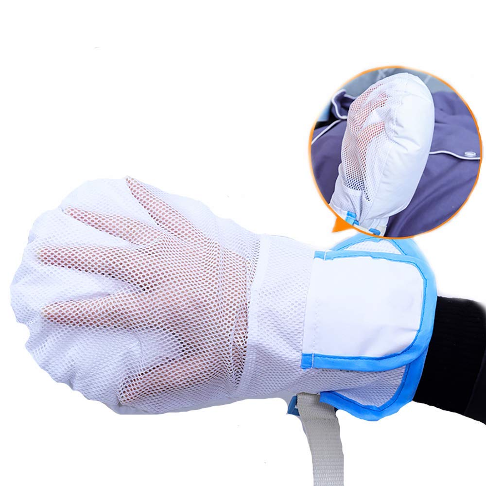 Finger Control Mitts, Hand Protector Breathable Padded Soft Mitts for Universal Fit on Any Hand, White,1pcs by LUCKYYAN