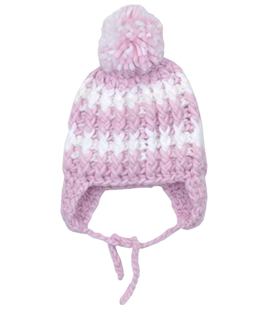 f02eef77 Babyprem Baby Hat Girl's Woolly Knitted Pom Pom Winter Warm Clothes Pink  White: Amazon.co.uk: Clothing