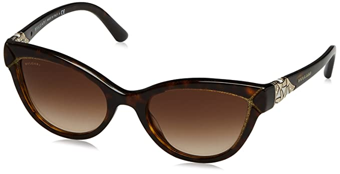 3f6cabd21a Image Unavailable. Image not available for. Color  Bvlgari DIVA COLLECTION  BV8156B - 535313 Sunglasses Havana Glitter Gold ...