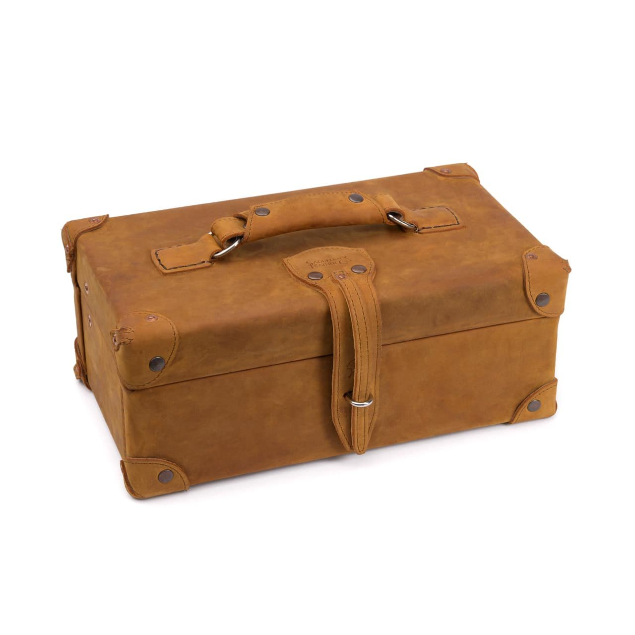 Saddleback Leather Watchmaker's Case - 100% Full Grain Leather Storage Box with 100 Year Warranty