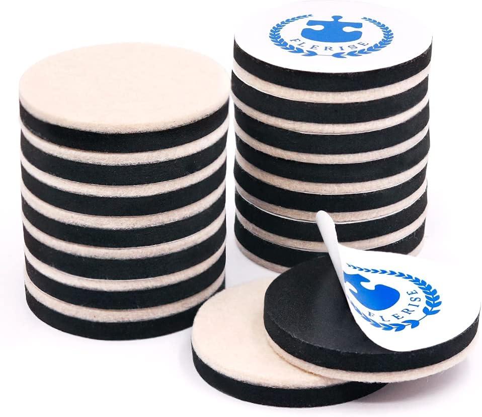 Furniture Sliders for Carpet & Hard Floor,16 PCS 2.5 Inch Self-Stick Furniture Sliders Movers Carpet Coasters for Carpet Chair Table Desk Reusable Furniture-Adhesive Glider Pads (for Hard Floor)