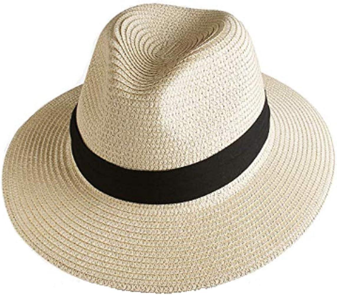 8dde69e688b Panama Hat Women,Wide Brim Straw Panama Beach Hat, Summer Roll up Fedora  Floppy Hats.