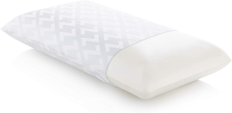 Z Memory Foam Pillow with Tencel Removable Cover - Low Loft, Plush - King