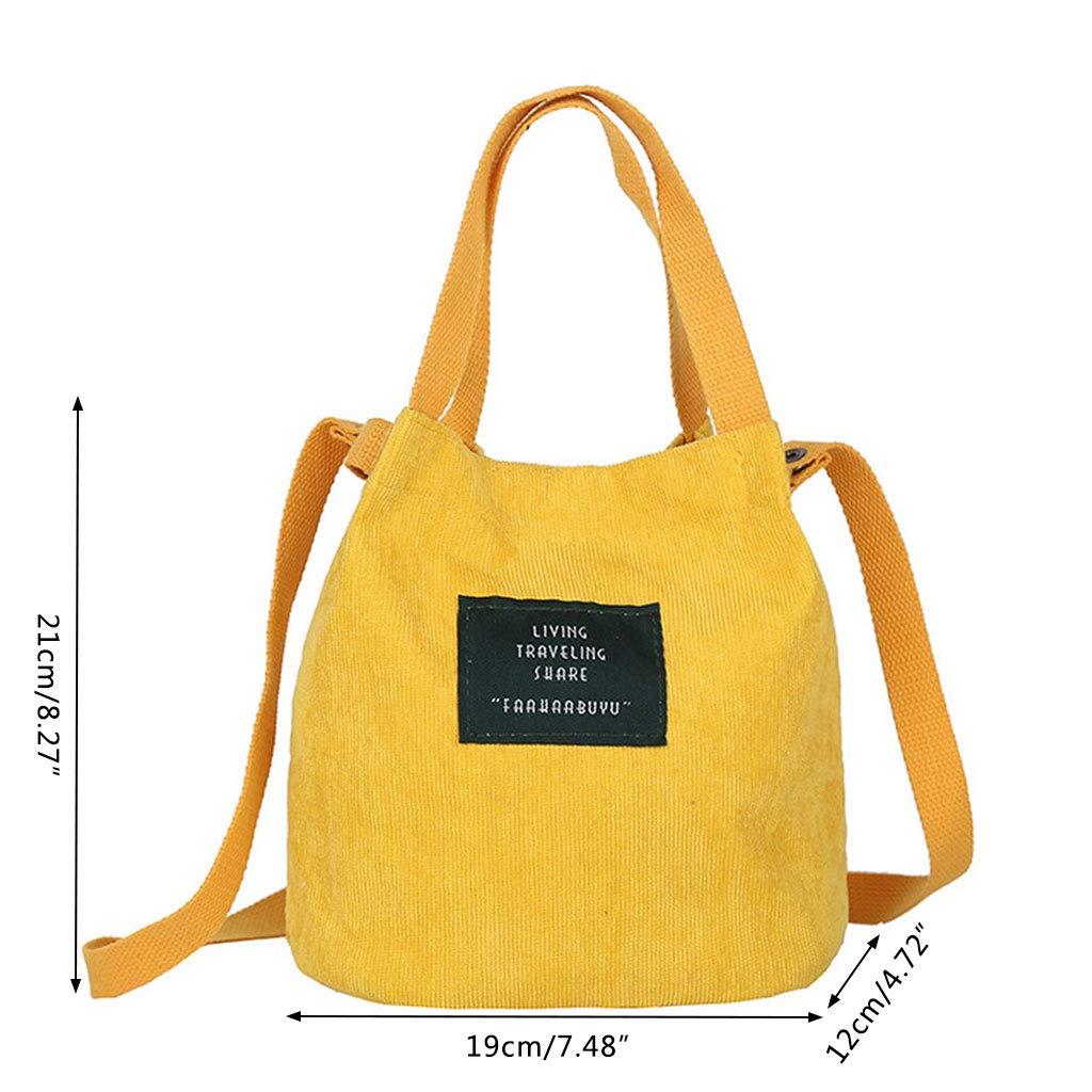 0ec96573ba0b Lamdoo Vintage Women's Corduroy Handbag Shoulder Messenger Bag Satchel Tote  Purse Crossbody Bags Yellow