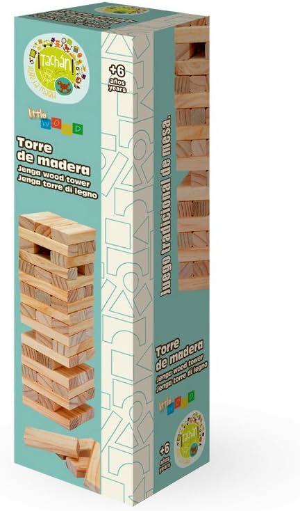 Tachan-2090 Torre de Madera, 57 Piezas, Color marrón (CPA Toy Group Trading S.L. 2090): Amazon.es: Juguetes y juegos