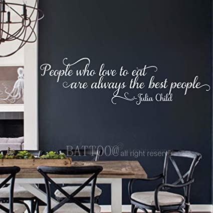 Amazon Com Battoo Wall Quotes Decal People Who Love To Eat